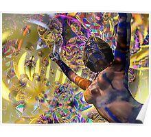 Journey Through the Vortex - 3D art Poster