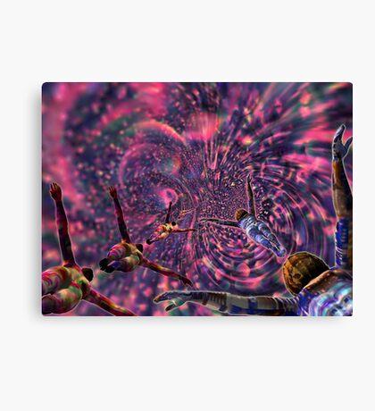 Hidden Plums Vortex - 3D art Canvas Print