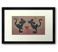 Mickey Mouse Love Framed Print