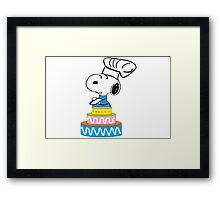 snoopy chef Framed Print