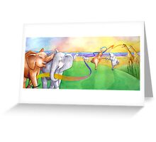 Elephant Dance Greeting Card