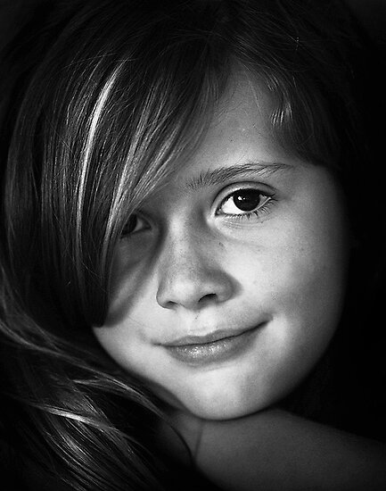 """Heredity determines the color of her eyes, but environment lights them up.""  by Duane Hart"