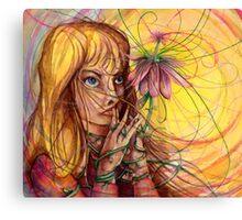 Magic Flower Girl Canvas Print