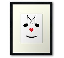 SOLD - FUN T-SHIRT FOR MUSIC LOVERS  Framed Print