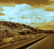 lonely Texas highway by photoartist63