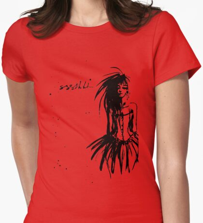 sshhh Womens Fitted T-Shirt
