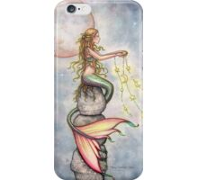 """Star Filled Sky"" Mermaid Art by Molly Harrison iPhone Case/Skin"