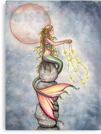"""Star Filled Sky"" Mermaid Art by Molly Harrison by Molly  Harrison"