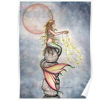 """Star Filled Sky"" Mermaid Art by Molly Harrison Poster"
