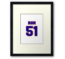 National football player Ron Childs jersey 51 Framed Print