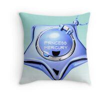 princess mercury sailor mercury star locket Throw Pillow