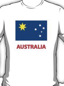 """Australian Flag - """"Australia""""  T-Shirt"""