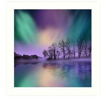 """dawn of the north"" - The Northern Lights  Art Print"