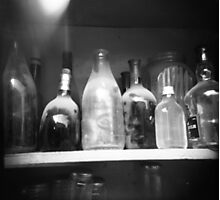 dusty bottles Photographic Print