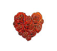 Valentine's Roses Photographic Print
