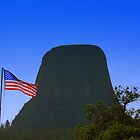 Stars and Stripes at Devils Tower by Allen Gaydos