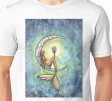"""Mermaid Moon"" Mermaid Art by Molly Harrison Unisex T-Shirt"