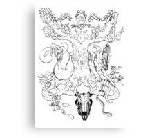 Cernunnos - Ragnarok and Yggdrasil - Ankh and Eye of Ra Canvas Print