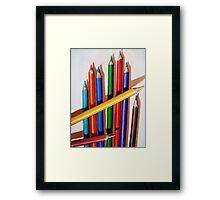 """Color Me Happy"" - realistic still life colored pencils Framed Print"