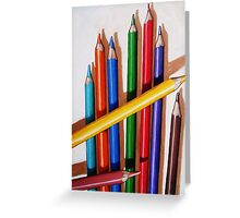 """""""Color Me Happy"""" - realistic still life colored pencils Greeting Card"""