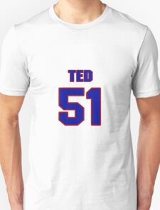 National football player Ted Bates jersey 51 T-Shirt