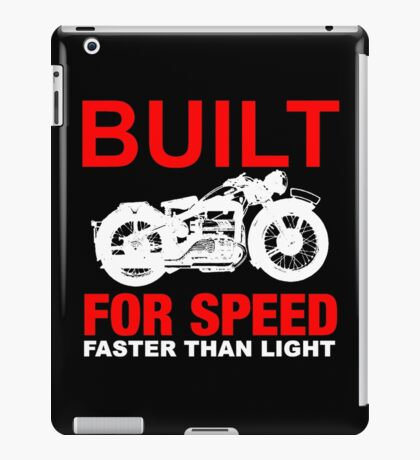 FASTER THAN LIGHT-RED 2 iPad Case/Skin