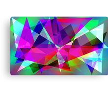 Shapes World (Cold) Canvas Print