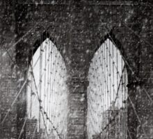 Brooklyn Bridge Snow Day Sticker