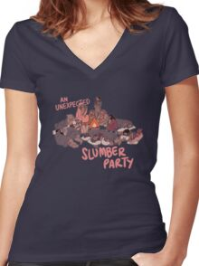 Slumber Party Women's Fitted V-Neck T-Shirt
