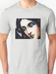 Angel - Stained Glass - Portrait Unisex T-Shirt