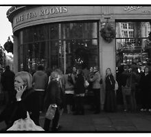 """Queuing for Tea at """"Bettys"""" by John Tuffen"""