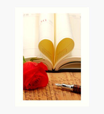 romance heart Art Print