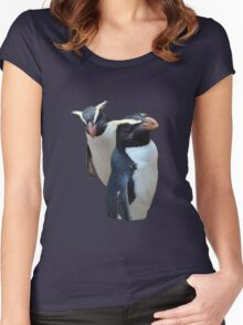 TWO LITTLE PENGUINS    TEE Women's Fitted Scoop T-Shirt