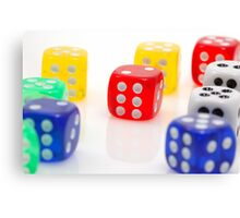 dices of luck Canvas Print