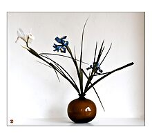 Ikebana-077 Greeting Card  by Baiko