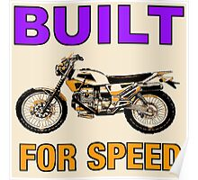 BUILT FOR SPEED-DIRT BIKE Poster