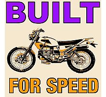 BUILT FOR SPEED-DIRT BIKE Photographic Print