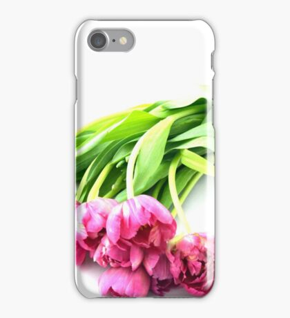 Tipped Over Tulips iPhone Case/Skin