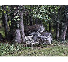 once upon a bench Photographic Print