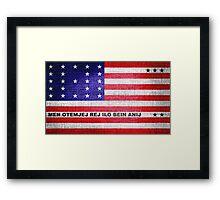 Bikini Atoll Flag Framed Print