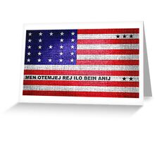 Bikini Atoll Flag Greeting Card