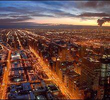 City Sunset by Harvey Tillis