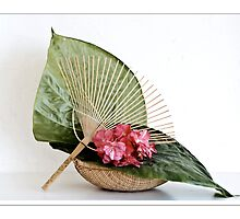 Ikebana-054 Greeting Card by Baiko