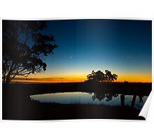 Morning Mill Pond Poster