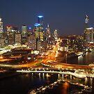 Melbourne City Skyline by Rick Monk