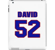 National football player David Grayson jersey 52 iPad Case/Skin