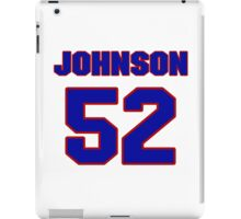 National football player Al Johnson jersey 52 iPad Case/Skin