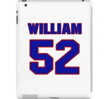 National football player William Kirksey jersey 52 iPad Case/Skin