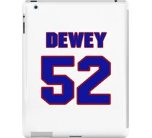 National football player Dewey McClain jersey 52 iPad Case/Skin