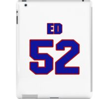 National football player Ed Meixler jersey 52 iPad Case/Skin